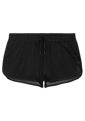 IVY PARK - Perforated Stretch-jersey Shorts - Black