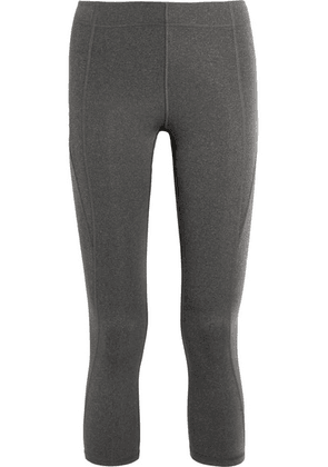 IVY PARK - Cropped Stretch-jersey Leggings - Gray