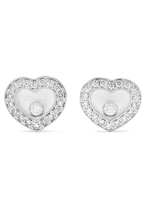 Chopard - Happy Diamonds 18-karat White Gold Diamond Earrings - one size