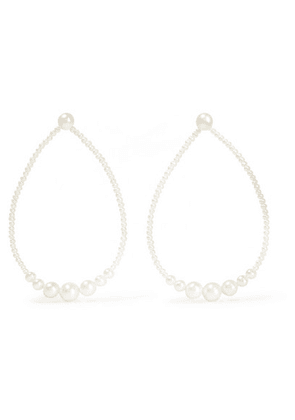 Saskia Diez - Gold Pearl Earrings - one size