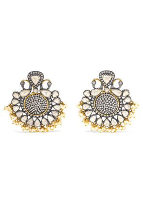 Amrapali - 18-karat Gold Diamond And Pearl Earrings - one size