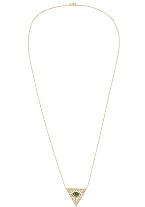 Lito - Tu Es Partout 14-karat Gold, Enamel And Diamond Necklace - one size