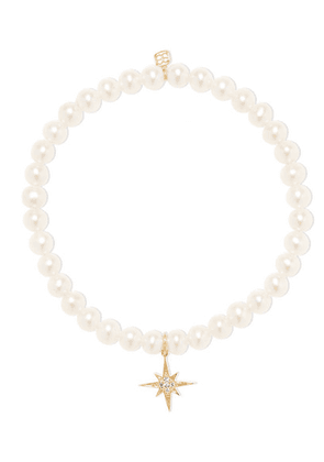 Sydney Evan - Starburst 14-karat Gold, Pearl And Diamond Bracelet - one size