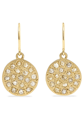 Brooke Gregson - Mini Mars 14-karat Gold Diamond Earrings - one size