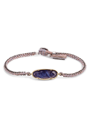 Brooke Gregson - 18-karat Gold, Sterling Silver, Silk And Tanzanite Bracelet - one size