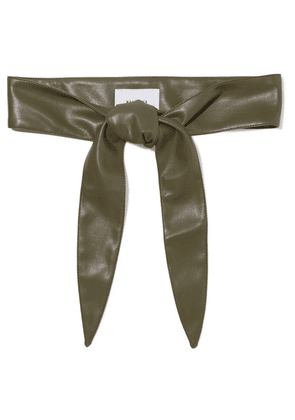 Nanushka - Vegan Leather Waist Belt - Dark green