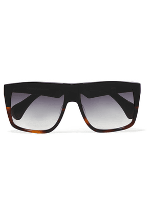 Kaleos - D-frame Acetate Sunglasses - Black