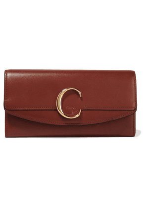 Chloé - Chloé C Leather Continental Wallet - Brown