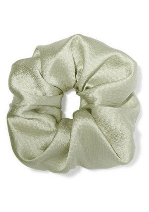 Jennifer Behr - Hammered Silk-satin Hair Tie - Green