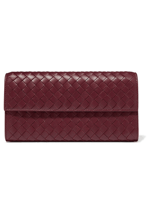 Bottega Veneta - Intrecciato Leather Continental Wallet - Burgundy