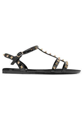 Valentino - Valentino Garavani The Rockstud Rubber Sandals - Black