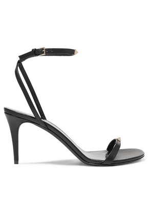 Valentino - Valentino Garavani The Rockstud Nude 80 Leather Sandals - Black