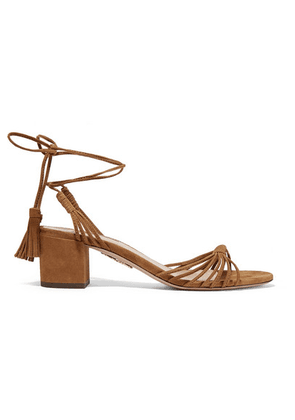 Aquazzura - Mescal 50 Suede Sandals - Tan