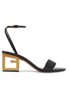 Givenchy - Triangle Leather Sandals - Black