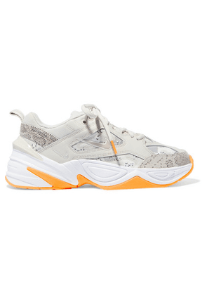 Nike - M2k Tekno Leather And Camouflage-print Canvas Sneakers - Beige