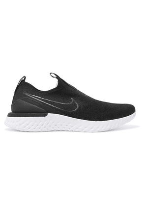 Nike - Epic Phantom React Flyknit Slip-on Sneakers - Black