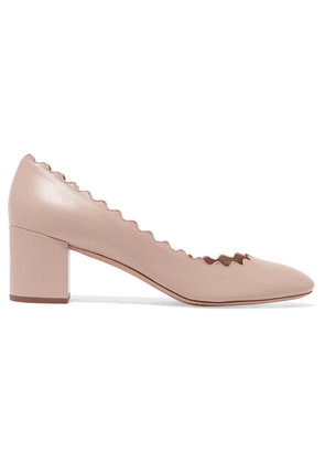 Chloé - Lauren Scalloped Leather Pumps - Neutral