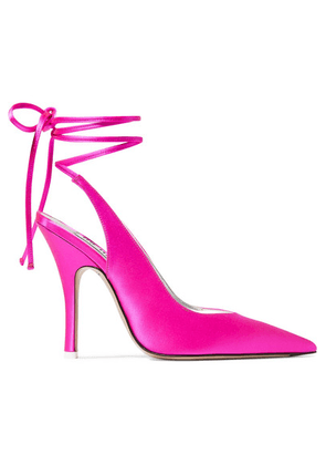 Attico - Monia Satin Pumps - Fuchsia