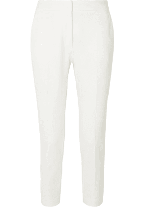 Max Mara - Pegno Cropped Stretch-cady Slim-leg Pants - White