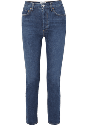 AGOLDE - Remy High-rise Straight-leg Jeans - Dark denim