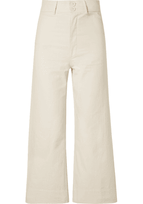 APIECE APART - Merida Cropped Cotton-canvas Wide-leg Pants - Cream