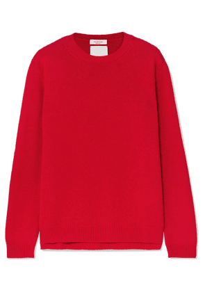 Valentino - Studded Cashmere Sweater - Red