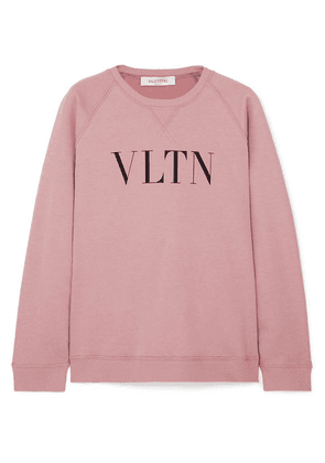 Valentino - Printed Cotton-blend Jersey Sweatshirt - Pink