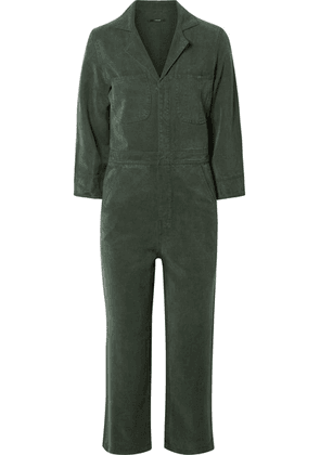 J Brand - Traveller Cropped Lyocell Jumpsuit - Army green