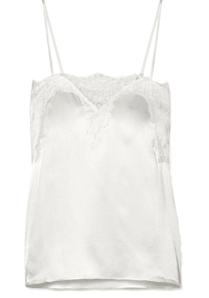 Cami NYC - The Sweetheart Lace-trimmed Silk-charmeuse Camisole - White