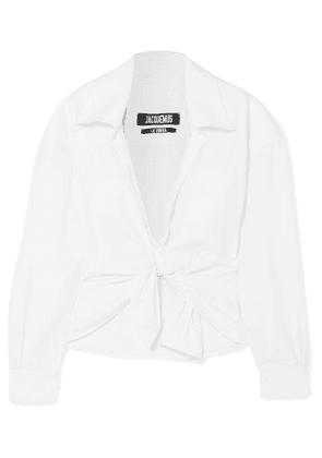 Jacquemus - Pavia Tie-front Cropped Twill Shirt - White