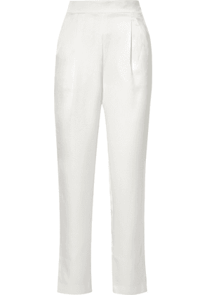 Rasario - Satin Straight-leg Pants - Ivory