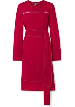 Marni - Belted Crepe Dress - Red