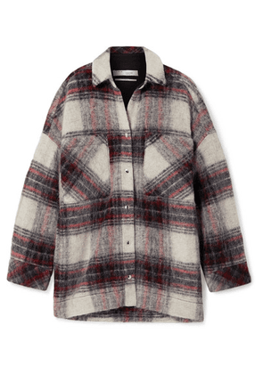 IRO - Minksy Oversized Checked Felt Jacket - Ecru