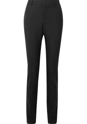 SAINT LAURENT - Wool-gabardine Slim-leg Pants - Black