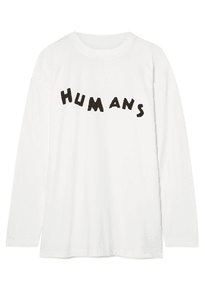 MM6 Maison Margiela - Printed Stretch-cotton Jersey Top - White
