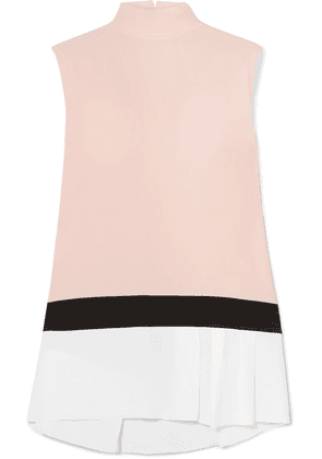 Marni - Color-block Washed-crepe Top - White