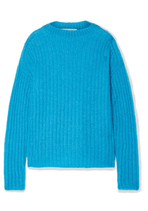 Marni - Ribbed Mohair-blend Sweater - Azure