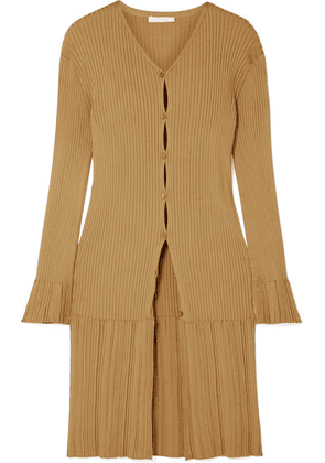 Chloé - Ribbed-knit Cardigan - Gold