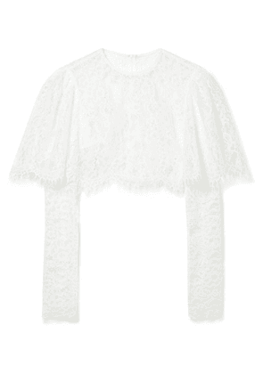 Rasario - Cropped Lace Top - Ivory