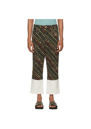 Loewe Black Paula's Ibiza Edition Flag Fisherman Trousers