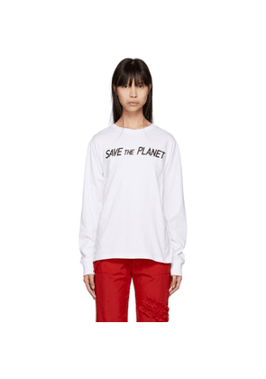 Ashley Williams SSENSE Exclusive White 'Save The Planet' T-Shirt