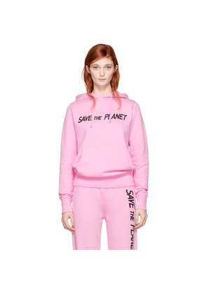 Ashley Williams SSENSE Exclusive Pink 'Save The Planet' Hoodie