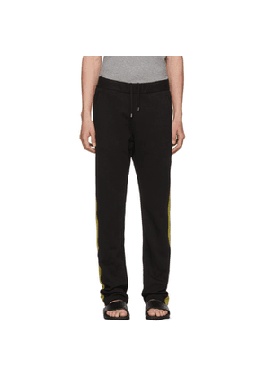 Bottega Veneta Black & Green Colorblock Track Pants