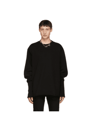 Christian Dada SSENSE Exclusive Black Overdying Bomber Sweatshirt