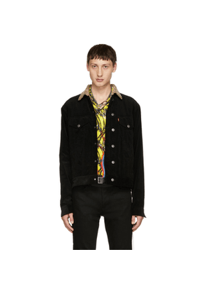 Christian Dada Black Narrow Wale Rotatory Jacket