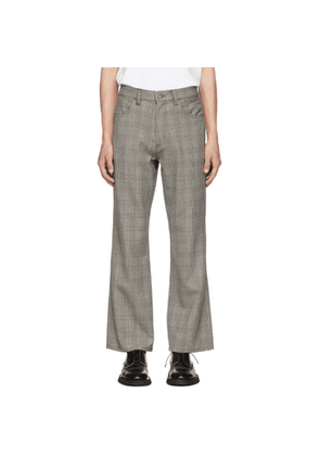 Christian Dada Grey Glen Plaid Flared Trousers
