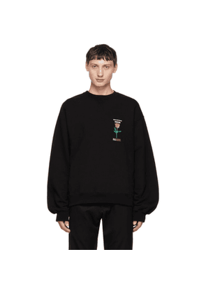 Christian Dada Black Rose Sweatshirt