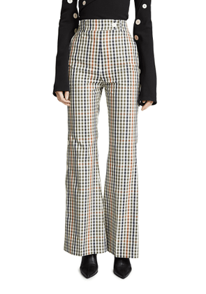 A.W.A.K.E. Button Side Flare Trousers