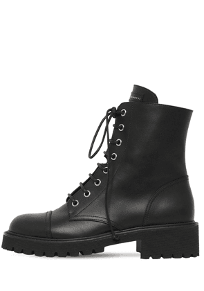 25mm Leather Combat Boots