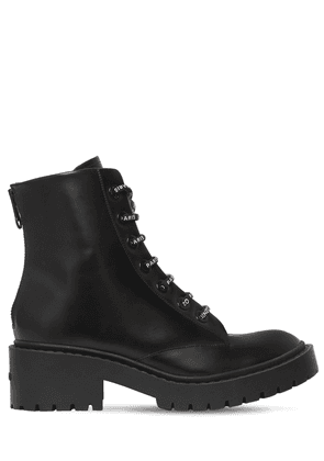 50mm Pike Lace-up Leather Combat Boots